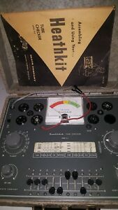 Vintage Heathkit Tc 2 Vaccum Tube Tester W manual working Condition as Pictured