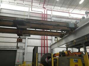 10 Ton Capacity Able Howe Overhead Bridge Crane For Sale