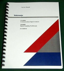 Tektronix Csa8000 Tds8000 Service Manual Comb Bound Protective Covers