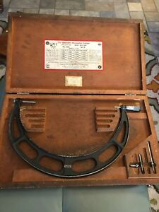 Starrett No 224 Set D 12 16 Micrometer Caliper Outside Interchangeable Anvils