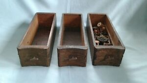 Standard S M Co Vintage Treadle Sewing Machine Drawers Lot Of 3 W Extras