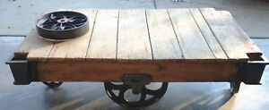 Make Offer Antique Vintage Refurbished Repurposed Warehouse Cart Coffee Table
