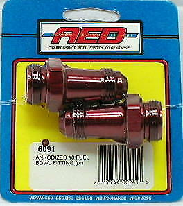 Aed 6091 8 An Dual Feed Bowl Fittings Holley Carb 650 750 850 Carburetor