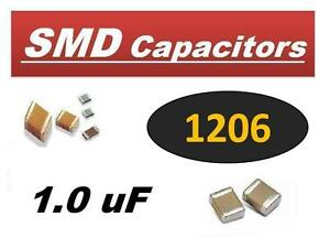 Avx 1 0 Uf 25v 1 Uf Smd 1206 Ceramic Capacitor 2000 Pcs New