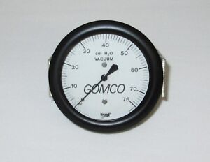 New Gomco Surgical Suction Recessed Vacuum Gauge Gage