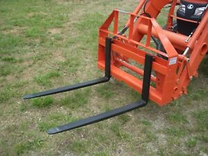 Kubota Mahindra Kioti Compact Tractor 42 Pallet Forks Attachment Ship 179