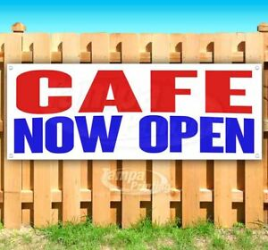 Cafe Now Open Advertising Vinyl Banner Flag Sign Many Sizes