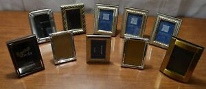 Lot 10 Mini Small Vintage Metal Picture Photo Frames 3 X 2