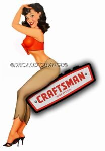 Craftsman Tool Sticker Hot Girl Sexy Decal Mechanic Toolbox Sign Chest Usa