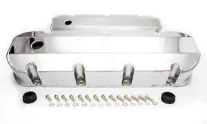 Rpc Valve Cover Tall Fabricated Aluminum With Holes Chrome Bbc pair