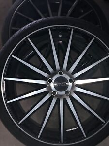 21 X9 Vossen Vfs2 Tinted Gloss Black Hybrid Forged Flow Formed