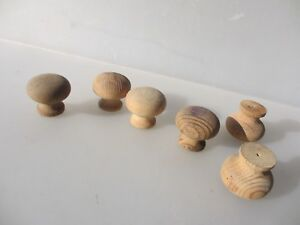 Wooden Dresser Knobs Chest Of Drawer Handles Pulls Hardware Wood Old 90 S X6