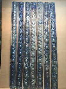 7pc Lot Of 48 By 3 5 Antique Ceiling Tin Vintage Reclaimed Salvage Art Craft