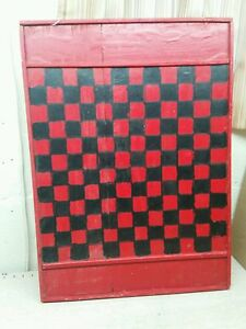 Vintage Game Board Checkerboard Folk Art Primitive Quebec Canada