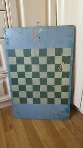 Vtg Antique Game Board Checkerboard Folk Art Primitive Canada See Description