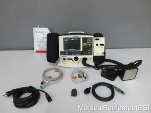 Physio Control Lifepak 20 Biphasic 3 Lead Ecg Spo2 Pacing Aed Paddles And Pads