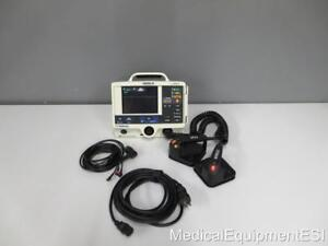 Physio Control Lifepak 20 Biphasic 3 Lead Ecg Pacing Analyze Hard Paddles