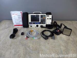 Physio Control Lifepak 20 Biphasic 3 Lead Aed Pacing With Paddles And Pads