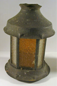 Vintage Antique Arts Crafts Era Hammered Copper Porch Bridge Lamp Shade