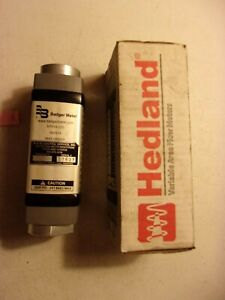 New In Box Badger Hedland Variable Area Flow Meter H761a 020 287