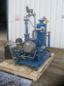 Sterling Sihi Liquid Ring Vacuum Pump Skid Has Heat Exchanger Separator