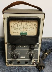 Vintage Precise Model 909 Vtvm Vacuum Tube Multi Meter as Is For Repair