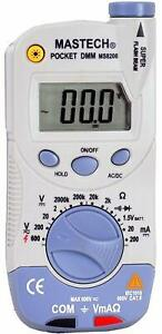 Mastech Ms8206 Pocket size Digital Multimeter With High Accuracy And Flashlight