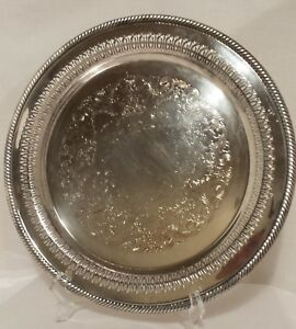 Wm Rogers Silverplate 12 Serving Tray 170 English Gadroon International Silver