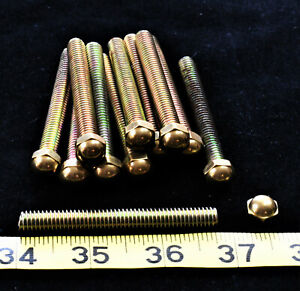 Brass Bed Parts Caps Replacements Finials Knobs 3 Inch Bolts With Dome Nut