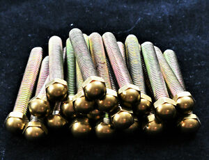 Brass Bed Parts Caps Replacements Finials Knobs 2 5 Inch Bolts With Dome Nut