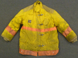 Large Firefighter Jacket Coat Bunker Turn Out Gear Yellow Chieftain J606