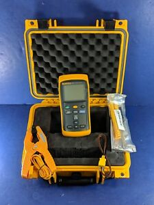 Fluke 52 Ii Thermocouple Thermometer Excellent Screen Protector Case More
