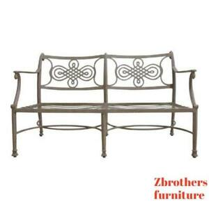 Woodard Landgrave Cast Classics Aluminum Patio Porch Outdoor Sofa Loveseat