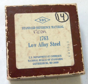 Nbs Standard Reference Material 1763 Low Alloy Steel Nist