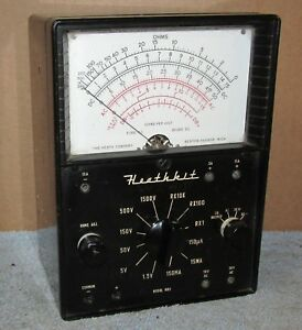 Vintage Heathkit Mm 1 Multi Meter Vom ohms Untested As Is J18