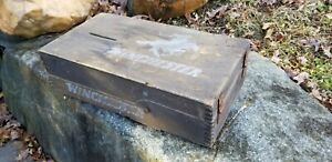 Vintage Wooden Winchester Small Arms Ammunition Box