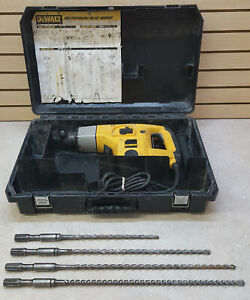 Good Used Dewalt Model Dw531 1 1 2 Rotary Hammer Drill W four 1 2 bits And Case