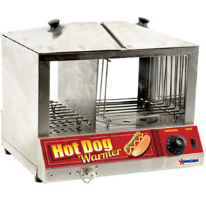 Omcan Fw cn 1200 40305 Bun Warmer Commercial Hot Dog Cooker Stainless Steel