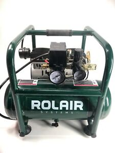 Hand Carry Portable Air Compressor Rolair Jc10a Ultra Quiet 120 Volt 125psi