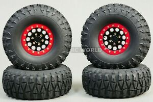 For Axial JEEP WRANGLER 1.9 Aluminum Beadlock Wheels W 115MM Tires Light Weight