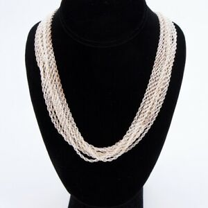 Sterling Silver Lot Of 10 Twisted Rope Chain Link 27 Necklaces Not Scrap 75g