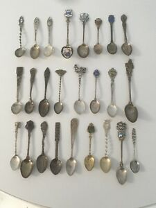 Lot Of 25 Vintage Sterling Silver Spoon Collection 256g