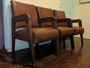 3 Romito Donnelly Art Deco Mcm Chairs Barbershop Den Smokers Room