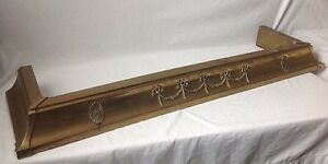 Vintage Neoclassical Brass Fireplace Fender W Bow And Swag Design Antique
