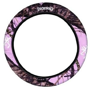 Pink Browning Camo Steering Wheel Cover Camouflage Neoprene