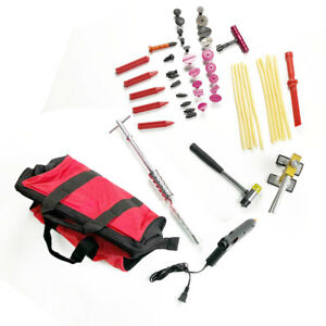 Auto Big Dent Paintless Repair Tools T bar Puller Tabs Removal Kit Us Store