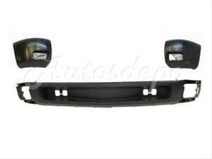 Front Bumper End Blk Fog Light Valance 5pcs For Chevy Silverado 1500 2007 2013