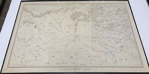 Antique Civil War Map 1865 Topographical Indian Territories Texas Arkansas