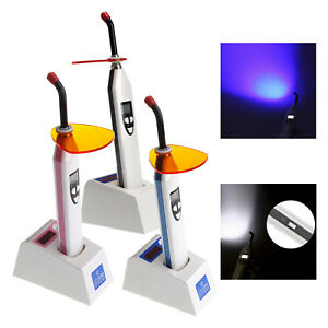 Dental 5w Led Wireless Cordless Curing Light Lamp Dual Color With Lightmeter St1