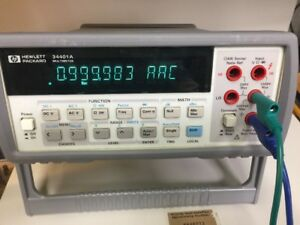 Hp Agilent Keysight 34401a Digital Multimeter Calibrated New Display
